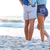 legs of young couple standing on the beach stock photo © deandrobot