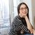 oldalnézet · portré · mosolyog · fiatal · nő · szemüveg · mobiltelefon - stock fotó © deandrobot