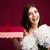 笑みを浮かべて · 若い女性 · ギフトボックス · 花 · 休日 · 人 - ストックフォト © deandrobot