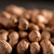dried peanut put by a row on dark background stock photo © deandrobot