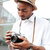 close up image of fashion black man stock photo © deandrobot