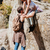 man and woman teamwork climbing or hiking stock photo © deandrobot