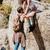 escalada · equipe · rocha · subir · trabalho · em · equipe · topo - foto stock © deandrobot