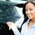 mujer · de · negocios · prima · coche · abajo · negocios - foto stock © deandrobot