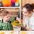 madre · nino · pintura · junto · papel · escuela - foto stock © deandrobot