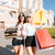portrait of two female friends shopping together stock photo © deandrobot
