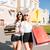 2 · 女性 · 友達 · 笑みを浮かべて · ショッピングバッグ · 肖像 - ストックフォト © deandrobot