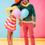 smiling african young couple holding balloons and kissing stock photo © deandrobot