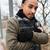 魅力的な · 深刻 · アフリカ系アメリカ人 · 男 · 立って · 手 - ストックフォト © deandrobot