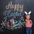 alegre · jovem · criança · coelho · orelhas - foto stock © deandrobot
