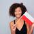 красоту · молодые · счастливым · афро · американский · женщину - Сток-фото © deandrobot