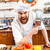 angry bearded chef cook holding meat cleaver knife and shouting stock photo © deandrobot