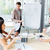 empresário · apresentação · escritório · papel · trabalhar - foto stock © deandrobot