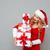 gelukkig · grappig · vrouw · permanente · hoop - stockfoto © deandrobot