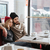 側面図 · レストラン · 座って · 表 · ビジネス - ストックフォト © deandrobot