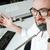 mosolyog · férfi · szemüveg · szakáll · iroda · üzlet - stock fotó © deandrobot