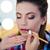 vrouw · lippenstift · lippen · natuurschoon · brunette - stockfoto © deandrobot