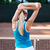 Stretching sports woman or tennis player warming up stock photo © deandrobot