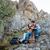Porträt · glücklich · Paar · ruhend · Wandern · Berge - stock foto © deandrobot