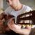 közelkép · lövés · elektromos · gitár · feketefehér · zene · gitár - stock fotó © deandrobot