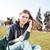genç · kız · park · rahatlatıcı · genç - stok fotoğraf © deandrobot