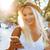 笑みを浮かべて · 若い女の子 · 麦わら帽子 · 立って · 春 - ストックフォト © deandrobot