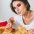 aantrekkelijk · jonge · vrouw · vergadering · tabel · fast · food - stockfoto © deandrobot