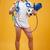 portret · gelukkig · jonge · man · zonnebril · springen - stockfoto © deandrobot
