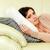 vrouw · gedachten · sofa · gelukkig · home · salon - stockfoto © deandrobot
