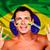 felice · fan · Brasile · bandiera · sorriso - foto d'archivio © deandrobot