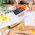 pittura · tavolo · in · legno · pennello · casa · lavoro · home - foto d'archivio © deandrobot