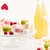 two bottles of lemonade marshmallows and macaroons on the table stock photo © deandrobot