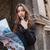 nő · kuplung · gyönyörű · barna · hajú · divat · fotó - stock fotó © deandrobot