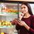 食品 · アプリ · ストア · 女性 · タブレット · 食料品 - ストックフォト © deandrobot