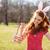 kobieta · długo · koszyka · malowany - zdjęcia stock © deandrobot