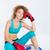 портрет · Фитнес-женщины · спортивная · одежда · сидят · устал - Сток-фото © deandrobot