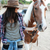 smilng lovely young woman cowgirl with her horse stock photo © deandrobot