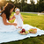 счастливым · мамы · дочь · пикника · зеленый · парка - Сток-фото © deandrobot