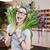 mutlu · kadın · çiçek · gözlük · moda - stok fotoğraf © deandrobot