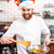 moleküler · şef · hazırlık · noktalar · modern · mutfak - stok fotoğraf © deandrobot