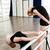 little · girl · bailarina · dança · professor · dançar · estúdio - foto stock © deandrobot