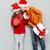 мало · мальчика · Рождества · подарок · Cute · предполагать - Сток-фото © deandrobot