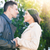 Beautiful couple flirting in park stock photo © deandrobot
