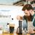 barista · kahve · kahvehane · bar · alışveriş - stok fotoğraf © deandrobot