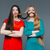 two funny girls making mustache with their hair stock photo © deandrobot