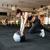若い女性 · ジム · ボール · リビング · 幸せ - ストックフォト © deandrobot