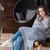 genç · kadın · oturma · sandalye · kız · genç - stok fotoğraf © deandrobot