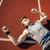 edzés · nővér · mér · bicepsz · jóképű · férfi · épület - stock fotó © deandrobot