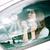 vrouw · paardrijden · auto · chauffeur · mooie · vrouw · glimlach - stockfoto © deandrobot