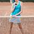 teljes · alakos · nő · teniszező · ütő · kész · labda - stock fotó © deandrobot